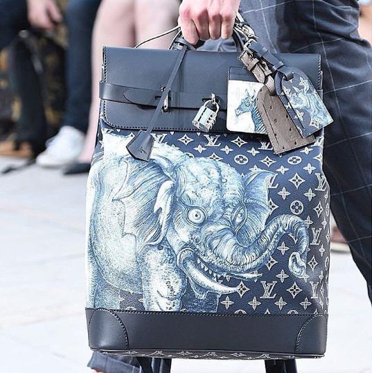 e51c418aec6d Louis Vuitton Encre Monogram Canvas with Elephant Print Backpack Bag -  Spring 2017