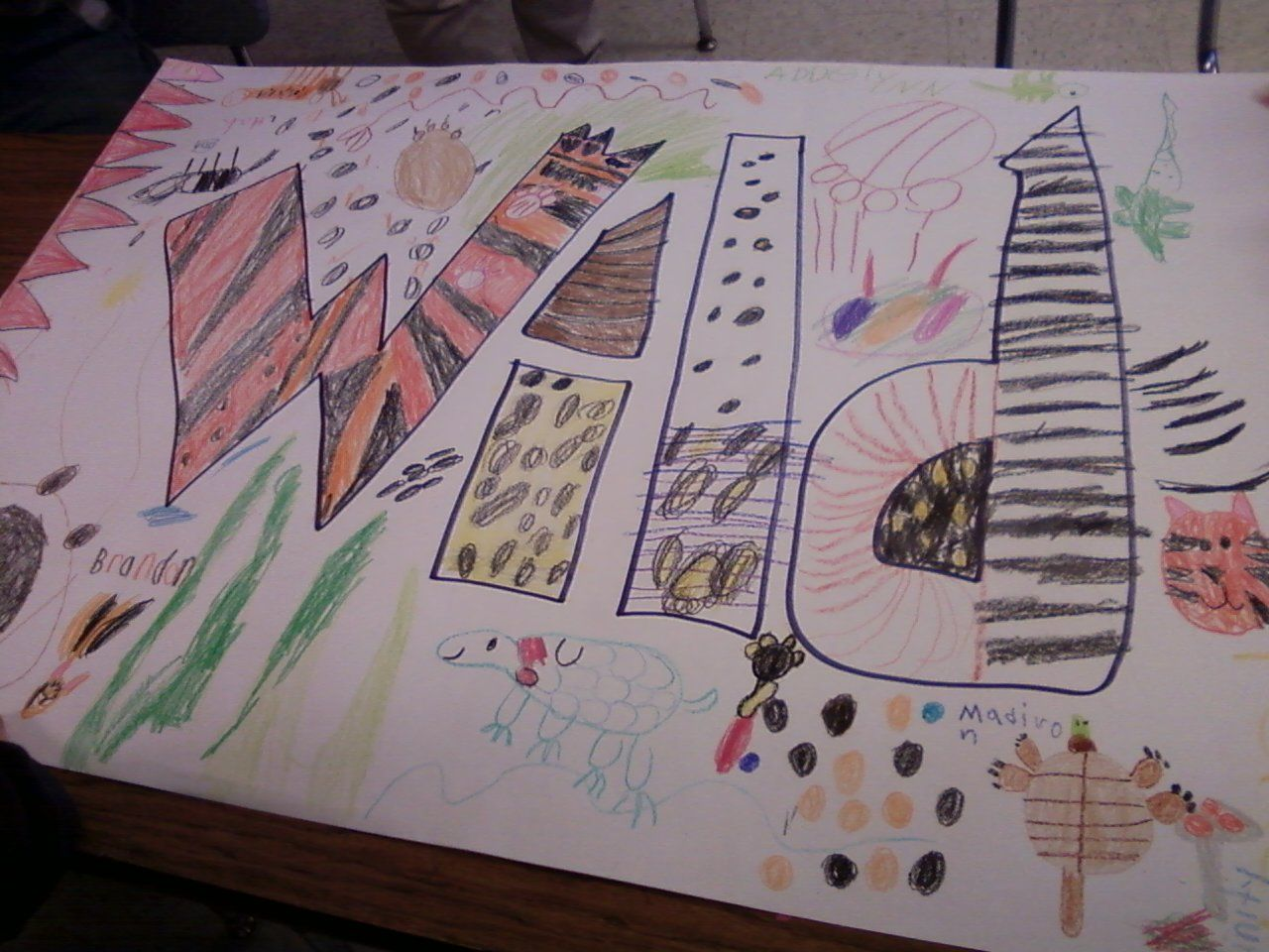 Collaborative Word art project See description of lesson at pppselementaryartrooms.blogspot.com