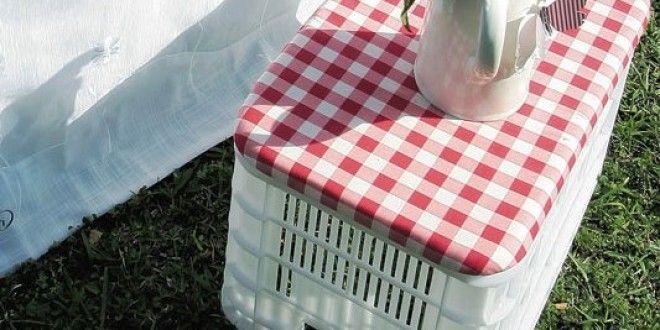 Passo a passo: Como fazer um banquinho com engradado de plástico!