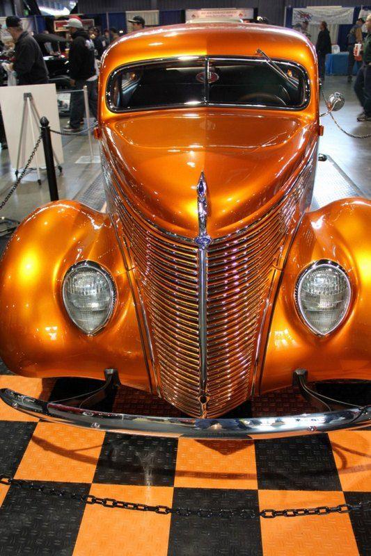 Orange Metallic Hot Rod At Sacramento Autorama Candy Paint