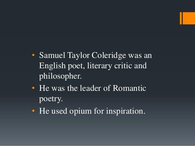 samuel taylor coleridge, | Samuel taylor coleridge
