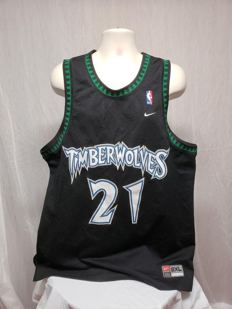brand new 3b6db ed355 Nike Minnesota Timberwolves #21 Kevin Garnett Mens Black 2XL ...