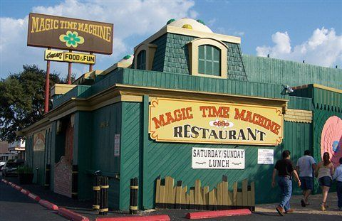 The Quirkiest Restaurant In Texas Magic Time Machine Is Impossible Not To Love San Antonio Restaurants Magic Time Machine San Antonio Riverwalk