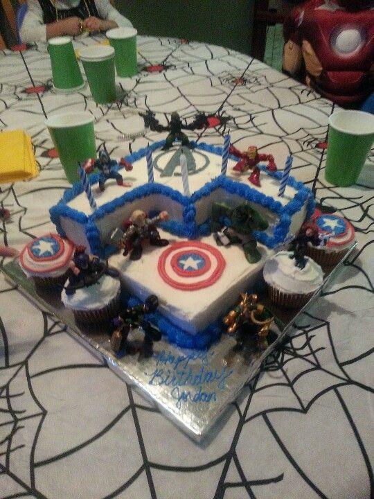 simple avengers cake Google Search boys birthday ideas