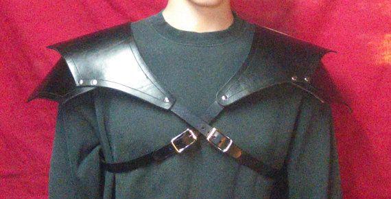 Pair of Leather Shoulder Armor Spaulders Pauldrons Cosplay LARP Steampunk Ren Faire