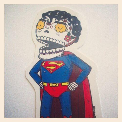 The Calavera of Steel #superman #sticker by misnopalesart