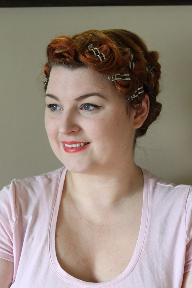 Pin Curl Set For Dita Von Teese Pageboy Hairstyle Beauty