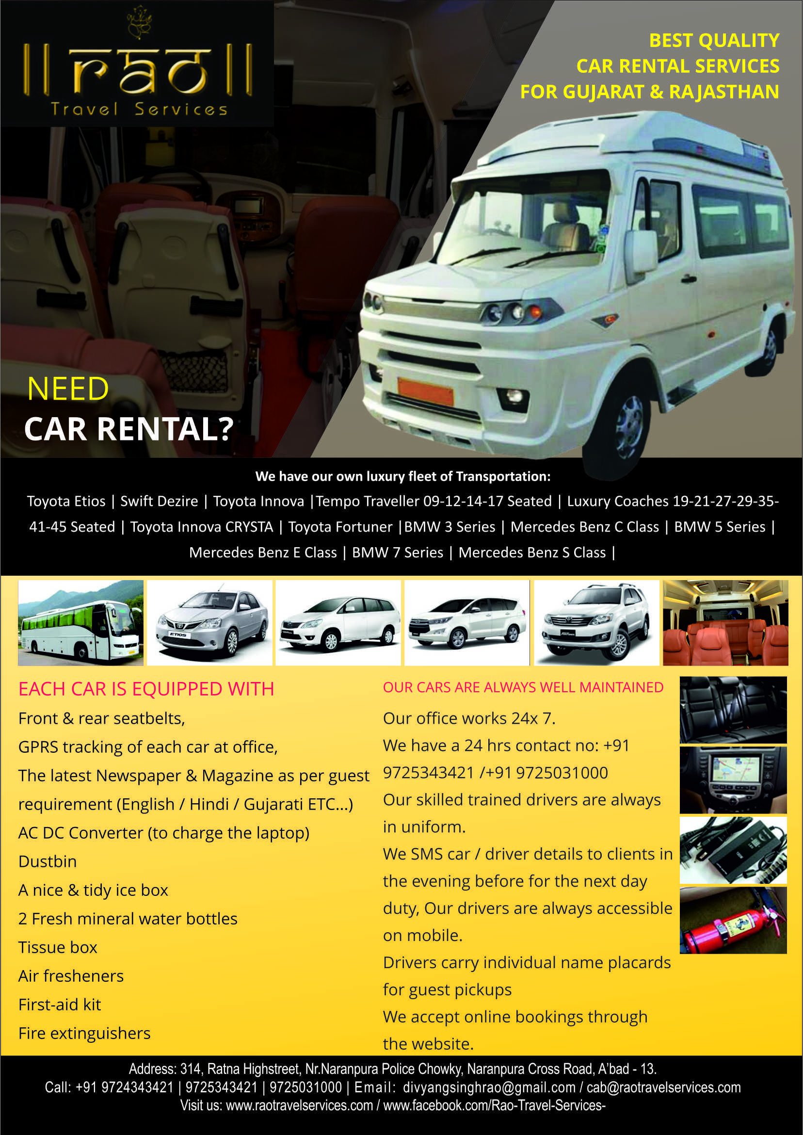 fecaa20930  car  rental rao travel services best deal guarantee call us for more  information