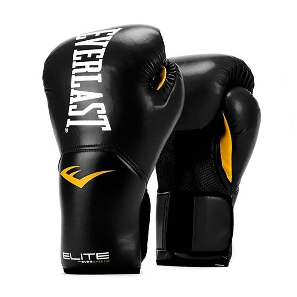 Everlast Pro Style Full Mesh Palm Training Boxing Gloves Black
