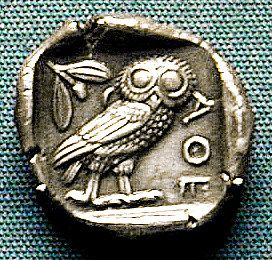 Ancient Greek Coin With Owl In 2019 Athena Goddess Coins
