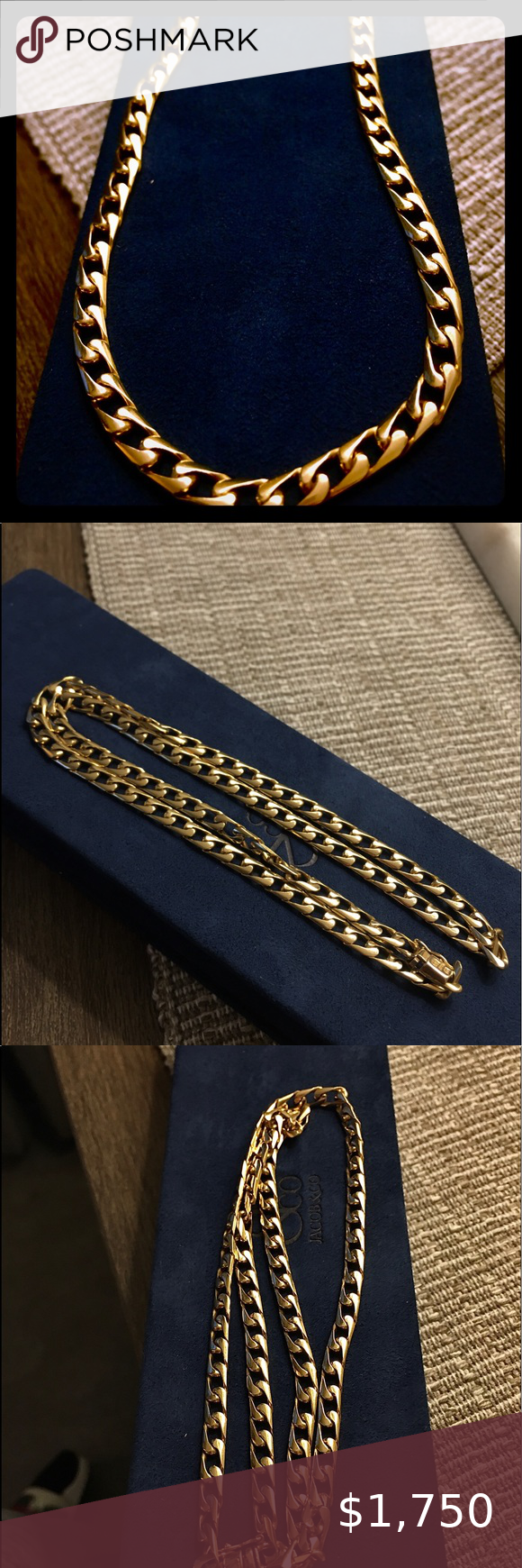 Cuban Link 14k Yellow Gold Heavy 22 Inches Long Total Weight Of The Chain Is 40 8 Grams Of Solid 14k Gold Mint Co In 2020 Gold Mens Accessories Jewelry 14k Yellow Gold