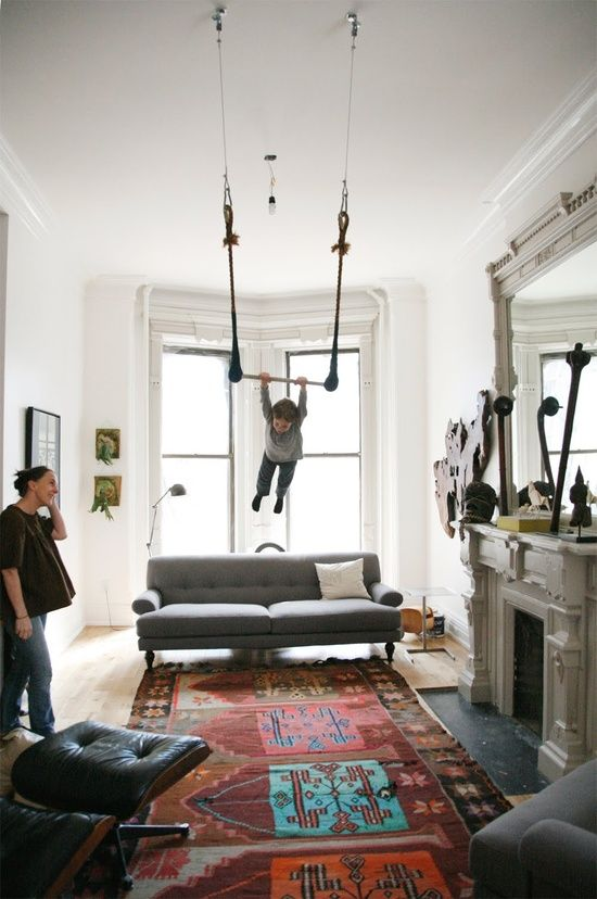 Swing Set In The Living Room Now That Is What I M Talking Bout