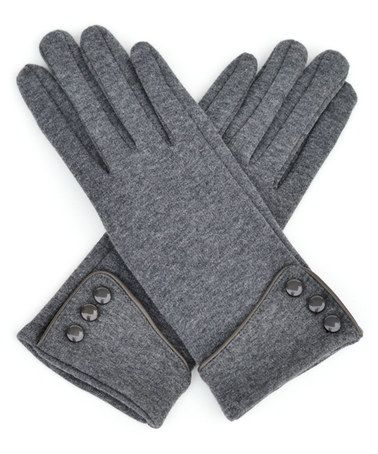 Look what I found on #zulily! Gray Fleece-Lined Touchscreen Gloves #zulilyfinds