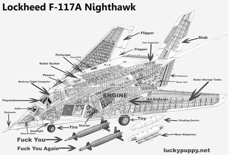 F-117-Schematic | The Lucky Puppy Gallery | Aviation | Lucky puppy