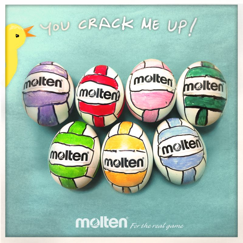 Weve hatched an egg cellent plan for moltens spring volleyball volleyball players negle Images