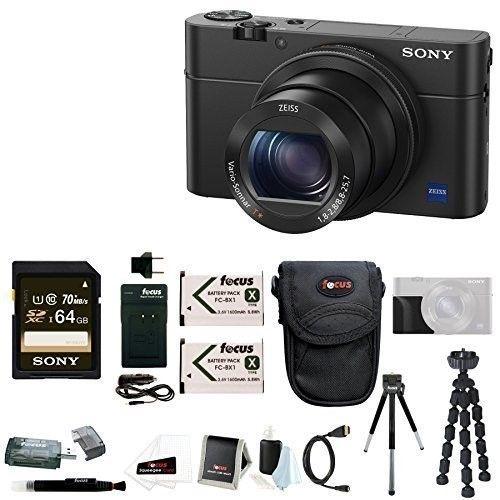Sony Cyber Shot Dsc Rx100 Iv Digital Camera With Grip And 64gb Accessory Bundle Digital Camera Camera Point Shoot Camera
