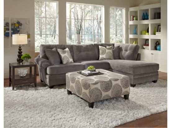 Cordoba Gray 2 PC Sectional   American Signature Furniture  LOVE AND NOT  TOO BIG