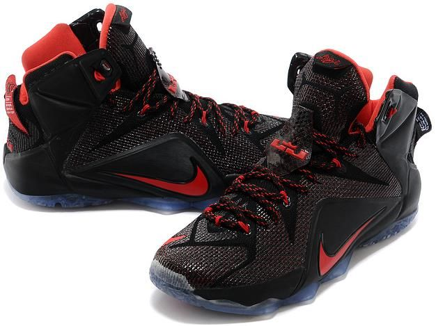 new arrival 7d44c 4c749 Nike Lebron 12 Black Red0