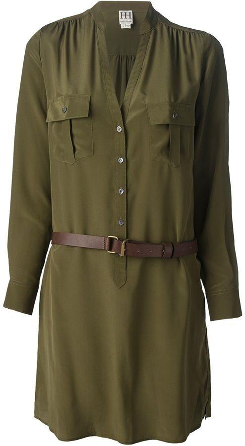 Haute Hippie belted shirt dress on shopstyle.com