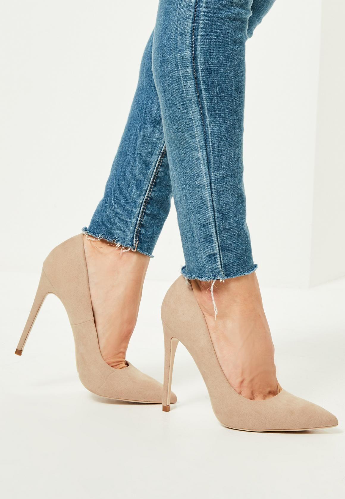escarpins nude pointus en suédine - missguided | shoes | pinterest