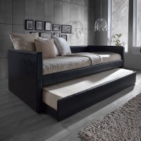 Baxton Studio Risom Modern And Contemporary Black Faux Leather