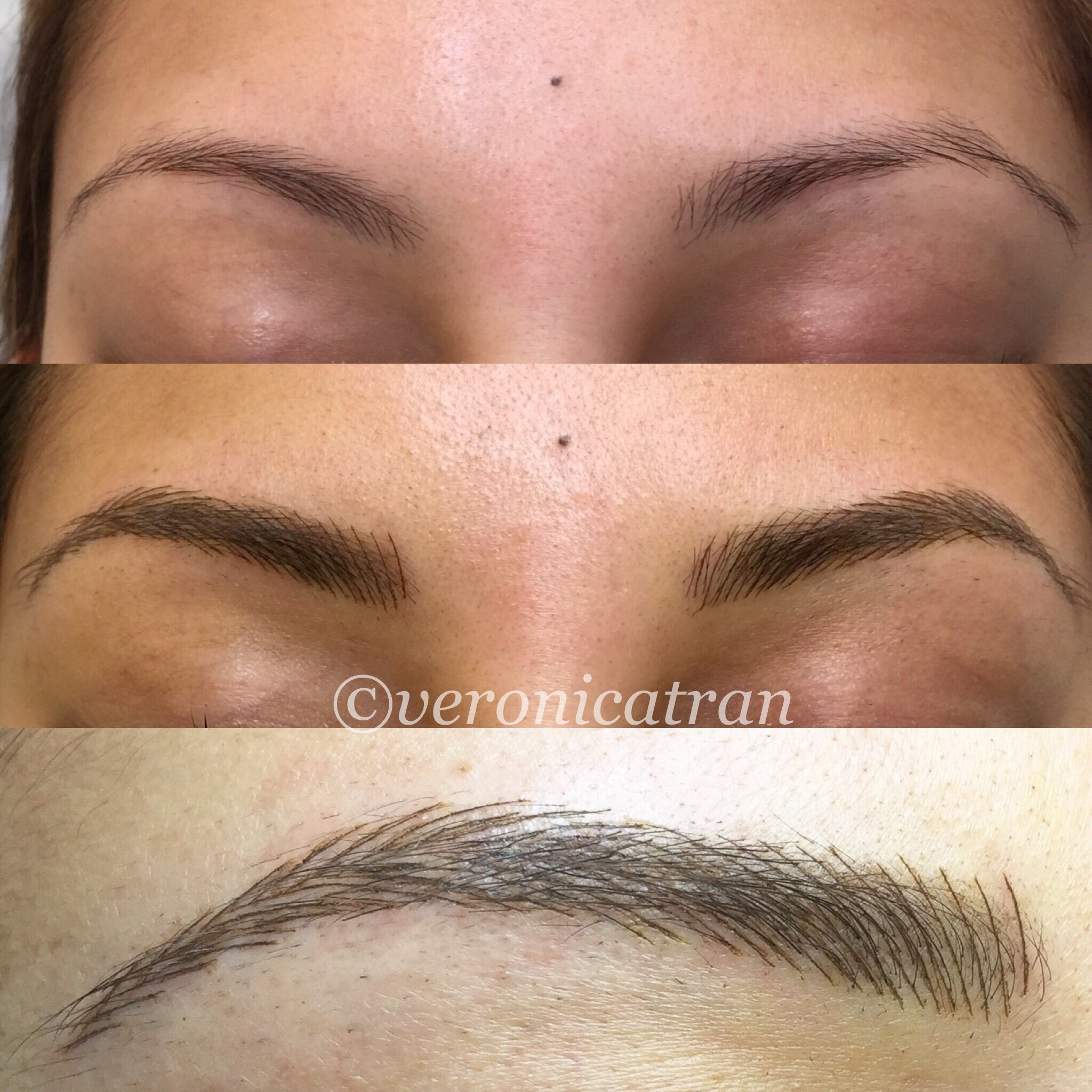 Defined Thicker Brows Eyebrow Tattoo Microblading
