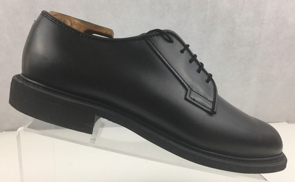ae6f11673f1 BATES Mens Black Leather Uniform Oxford Lace up Vibram Shoe 00968A Size US  8D  Bates  Oxfords  Work