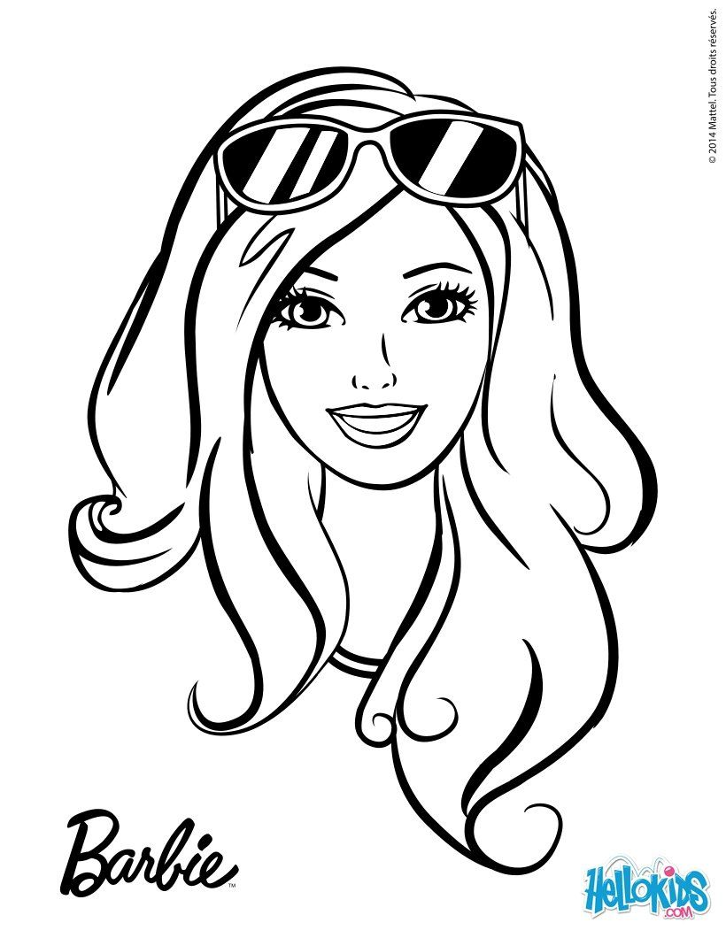 Barbie Head Coloring Pages