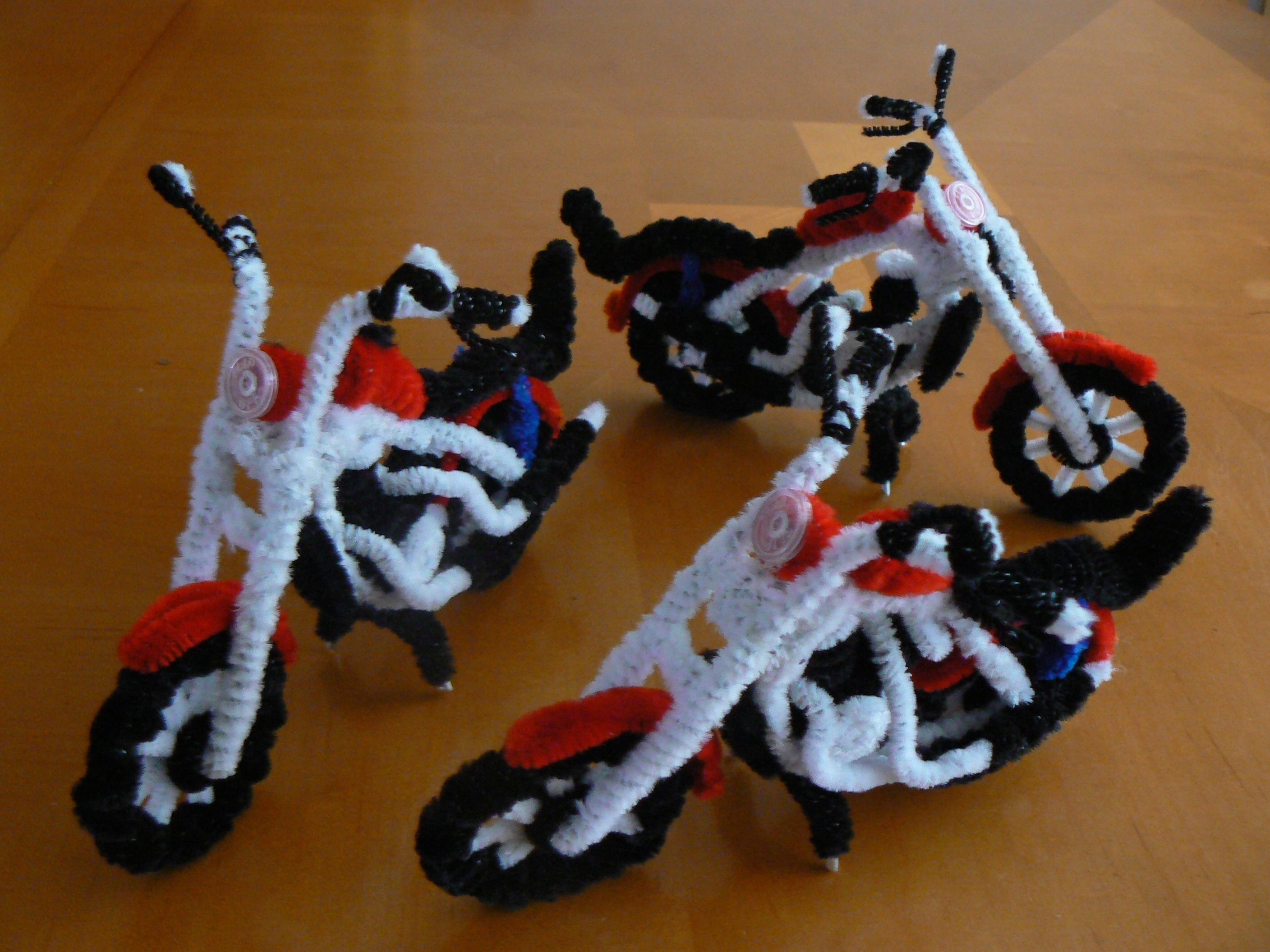 harleys made from pipe cleaners