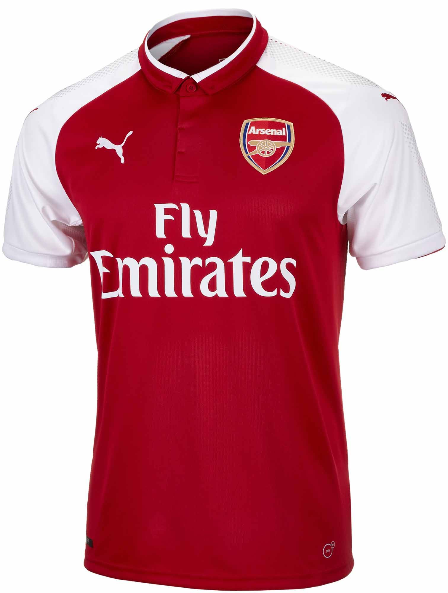 f96c1471168 2017-18 Puma Arsenal Home Jersey 2017-18