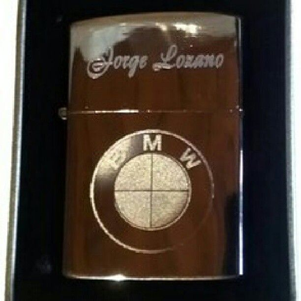 Zippo Con Logo Bmw Grabado Lighters Lighter