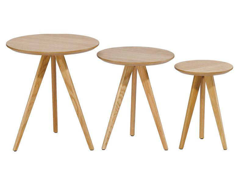 Juego 3 mesas auxiliares redondas mesas auxiliares - Bandeja redonda ikea ...