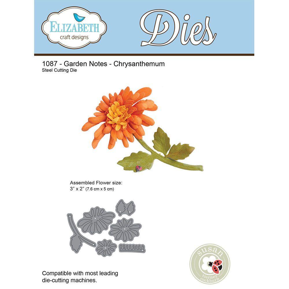 4 Piece Chrysanthemum Daisy Flower Die Set Metal Cutting Die Cutter Card Making
