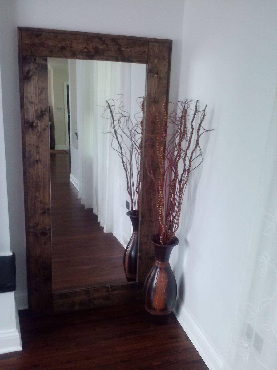 Custom Made Large Floor Mirror Reclaimed Wood Mirror Standing