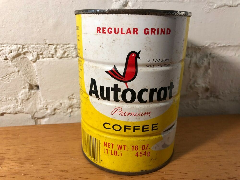 Details about Vintage Autocrat Coffee Tin Can Providence