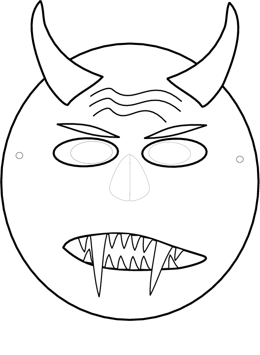 Kleurplaten Halloween Maskers.Masker Van Halloween Knutsels Halloween