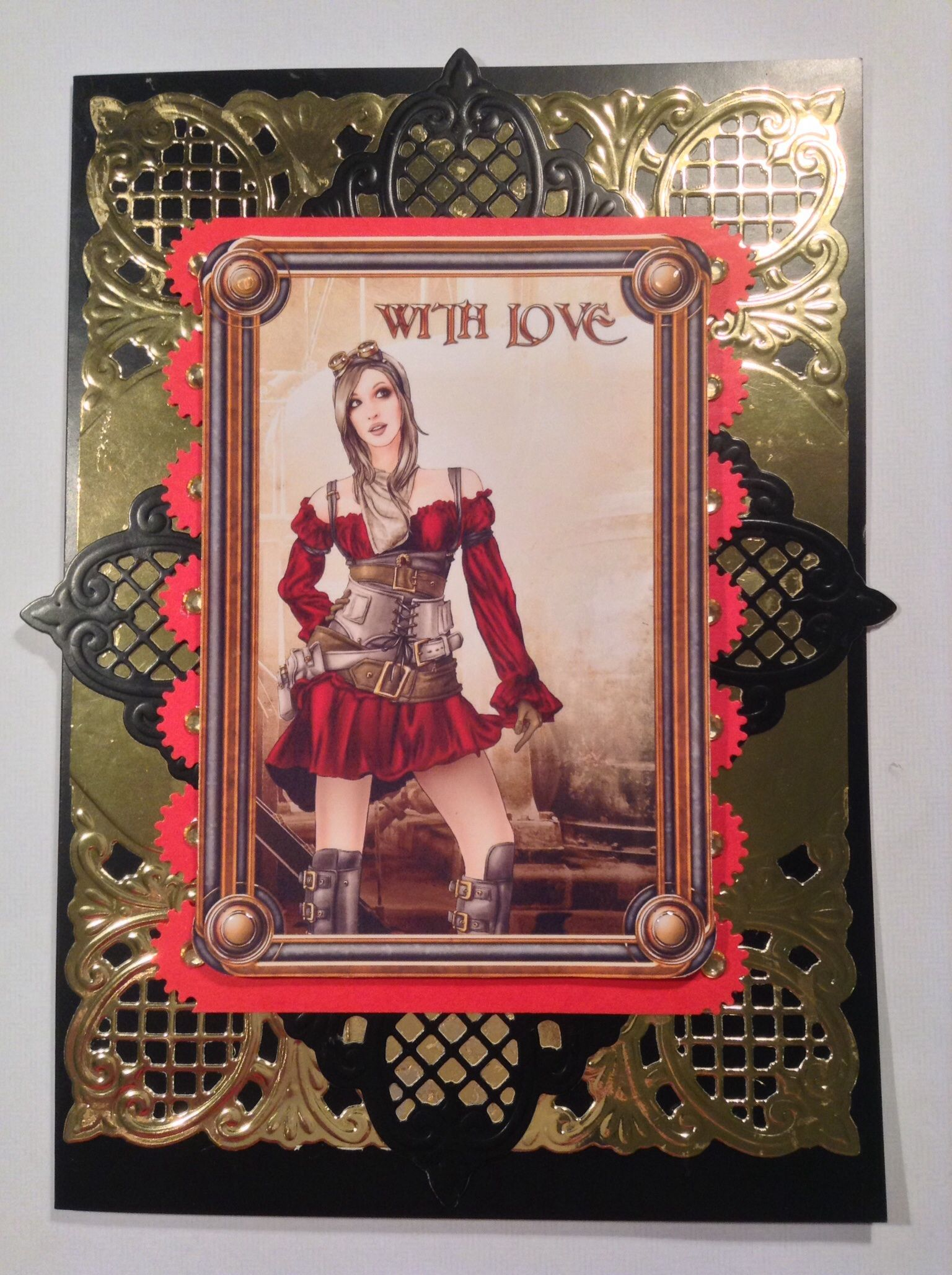 Just One Of My Many Steampunk Cards Kennyk Digital Stamps