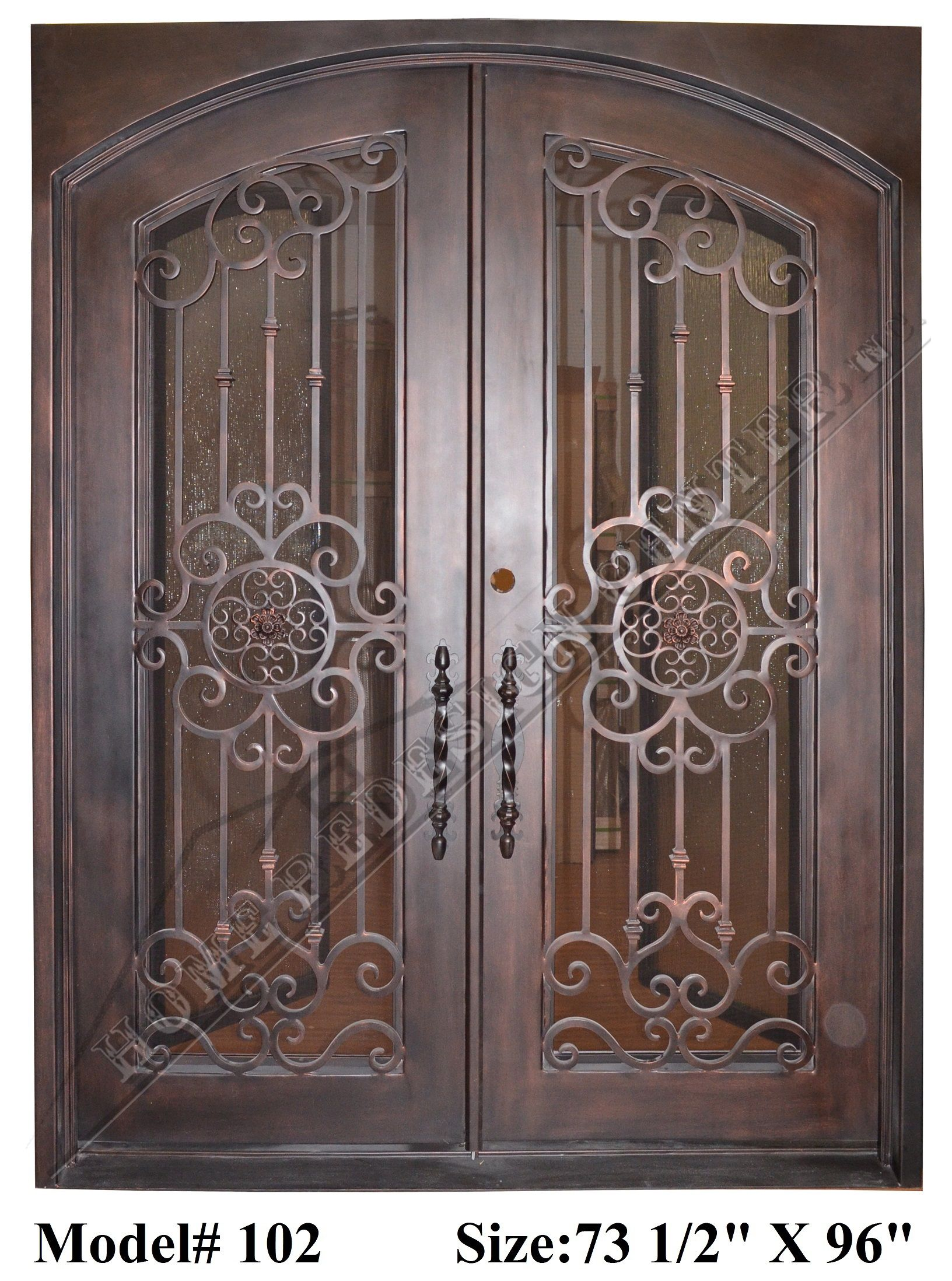 Our Doors Made Of 12 Gauge Steel With To Wrought Iron For Design Work Also Includes Wrought Iron Front Door Wrought Iron Entry Doors Wrought Iron Doors