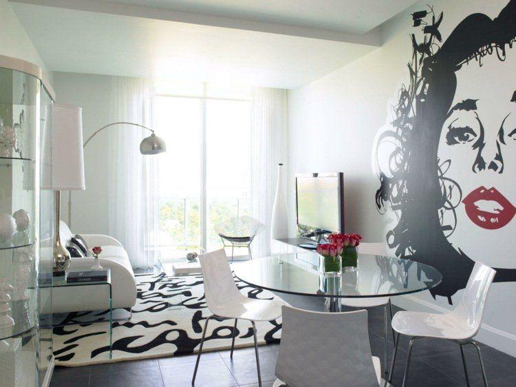 Faux Plafond Moderne Design : Quatre Espaces De Travail Et Deux