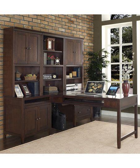 Cherry Companion Partners Desk & Bookcase Set