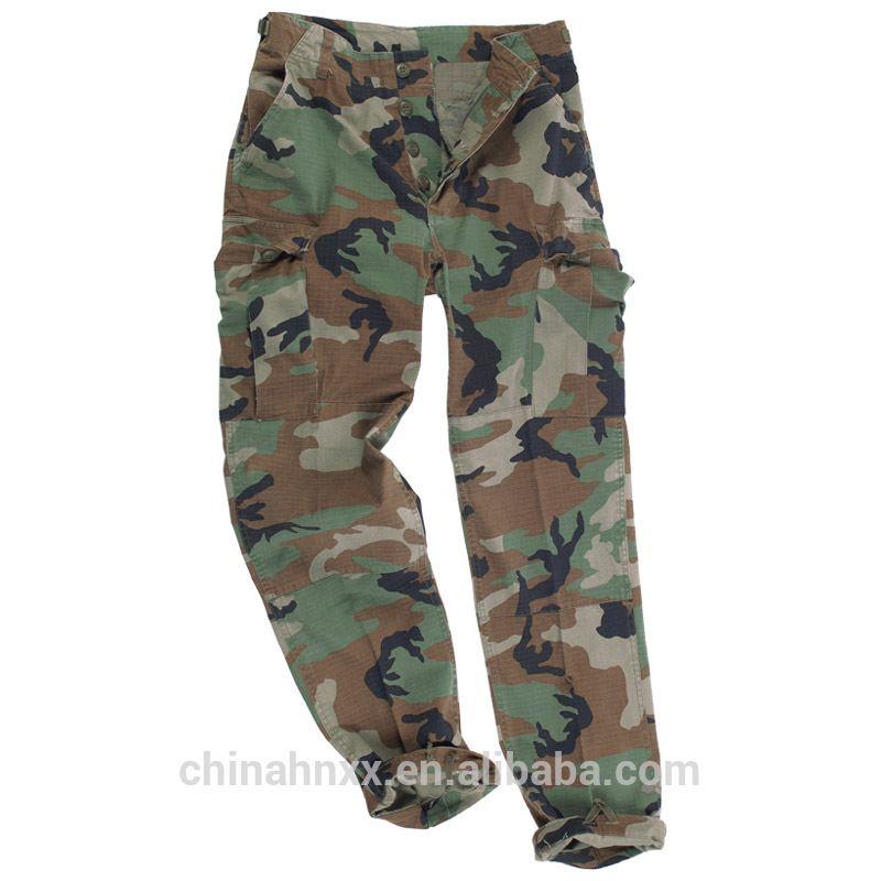 Woodland Camouflage Military BDU Combat Cargo Shorts
