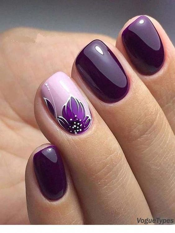 Stylish purple nail art | Inspiration for Ladies # ...