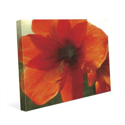 """Click Wall Art 'Amarillo' Print of Painting on Wrapped Canvas Size: 16"""" H x 20"""" W x 1.5"""" D"""