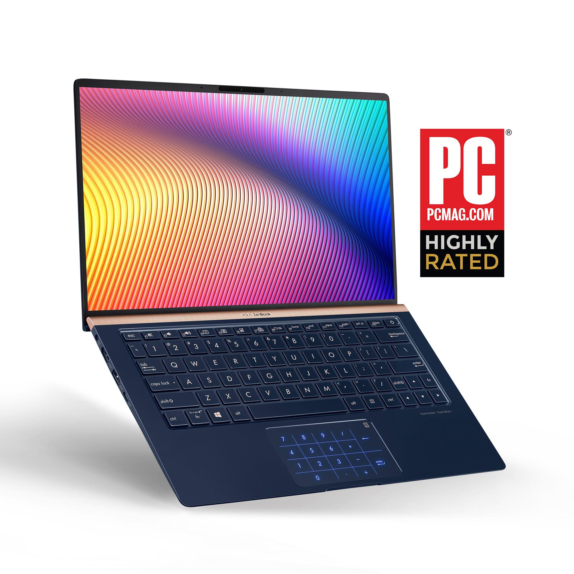 Asus Zenbook 14 Ux433fa Dh74 Ultra Slim Laptop 14 Full Hd 4 Way Nanoedge Bezel 8th Gen Intel Core I7 8565u Processor 16gb 512gb Pcie Ssd B Asus Intel Core Ssd