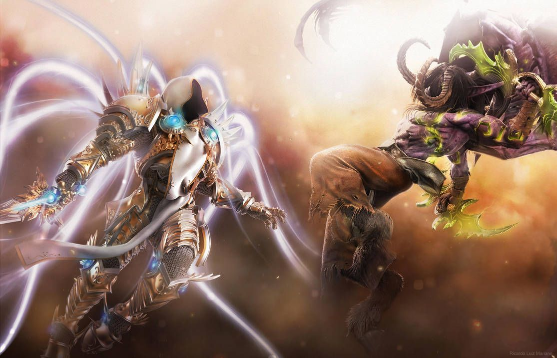 Tyrael vs Illidan by slipknotrlm | Scifi fantasy art, Heroes of the storm,  Wow illidan