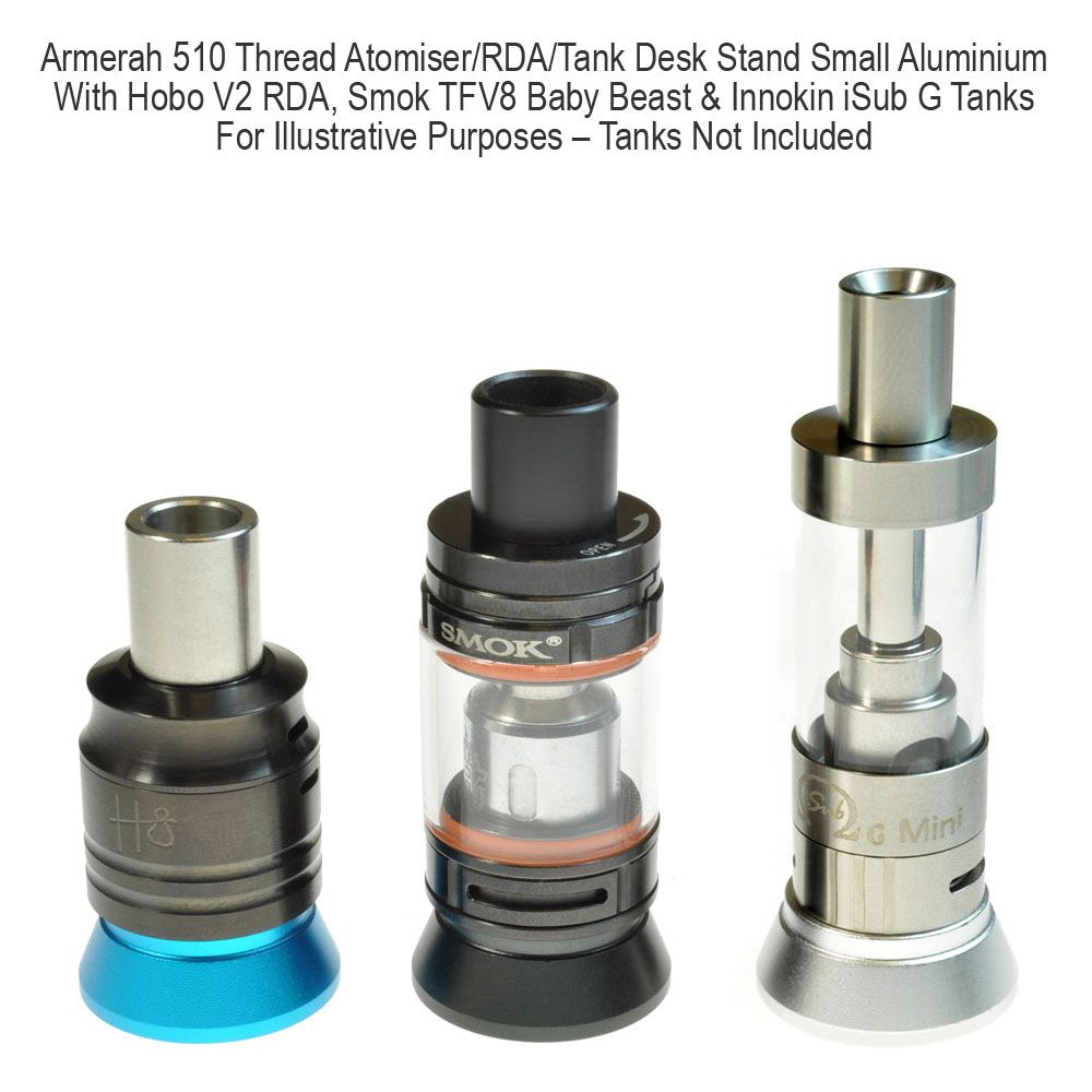 eCig 510 Atomiser/RDA/Tank Desk Stand Small Aluminium | Accessories