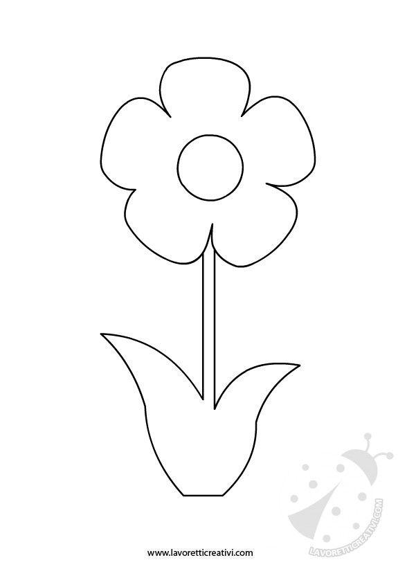 Sagoma fiore sagome utili per realizzare un fiore di carta for Fiori grandi da colorare