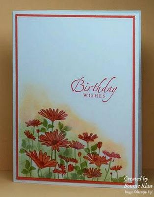 Stamping with Klass: Hot Colors for Upsy Daisy Note this stamp is solid silhouette, nice alteration.