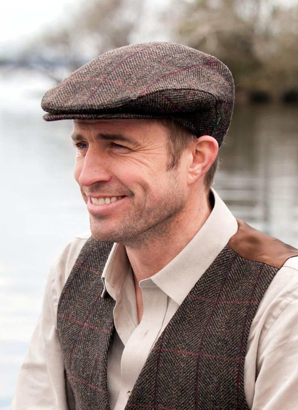 76fd5684728 Wool Trinity Cap in Brown Check  These beautiful 100% wool Irish Flat Caps  are classic yet smart