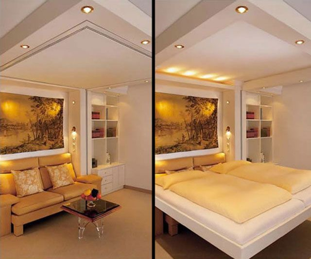 Tiny Home Designs: A $25,000 Bed That Comes Down From The Ceilingg??? Holy